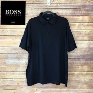 Hugo Boss Silk & Cotton Golf Polo Shirt XXL